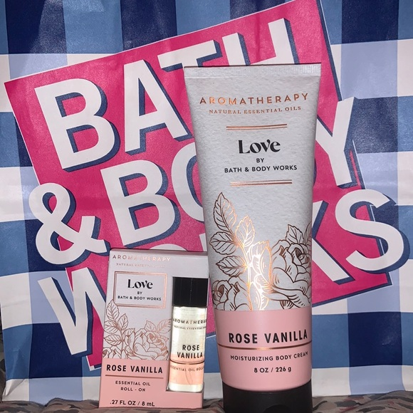 New Bath and Body works body cream and roll on oil